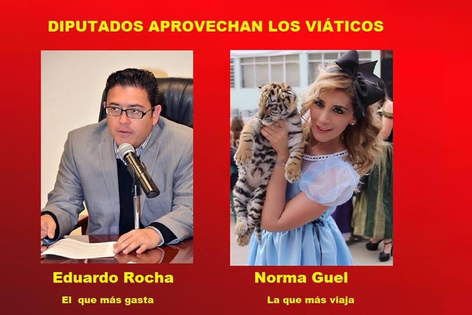 ¡Norma Guel y Eduardo Rocha los más vividores del presupuesto!