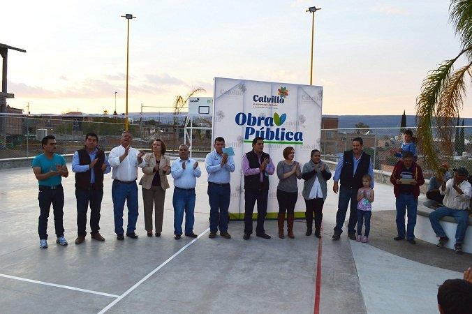 Inauguran espacio deportivo en la Col. Las Flores en Calvillo