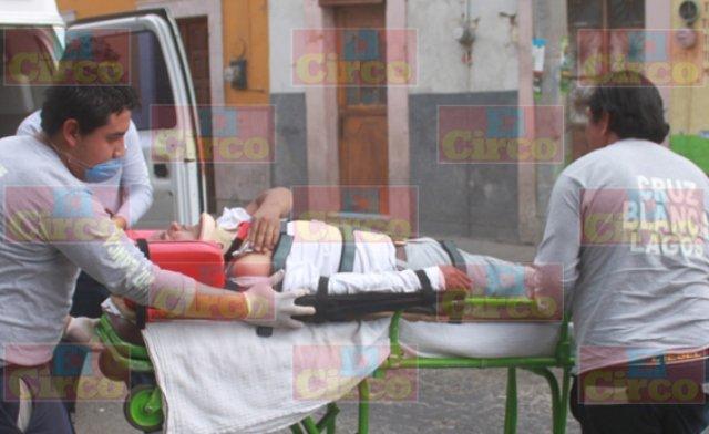 ¡Peregrino guanajuatense cayó de una bicicleta en Lagos de Moreno y está grave!