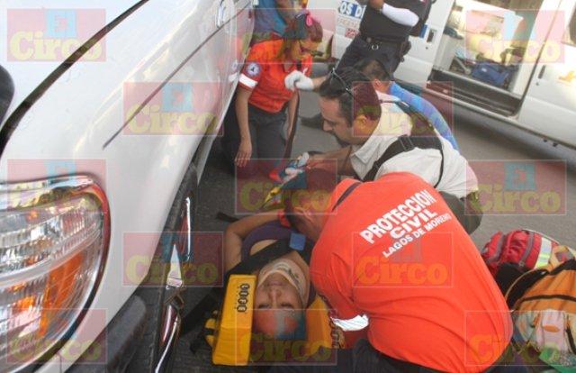¡Peregrina potosina fue atropellada por una camioneta en Lagos de Moreno!