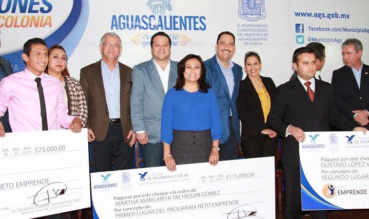 Premió MunicipioAgs a jóvenes emprendedores