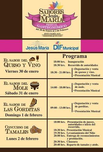 Se realizará concurso gastronómico en Jesús María del 30 de enero al 2 de febrero