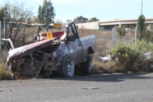 ¡Un hombre se mató luego de que se le ponchara una llanta a su camioneta en Zacatecas!