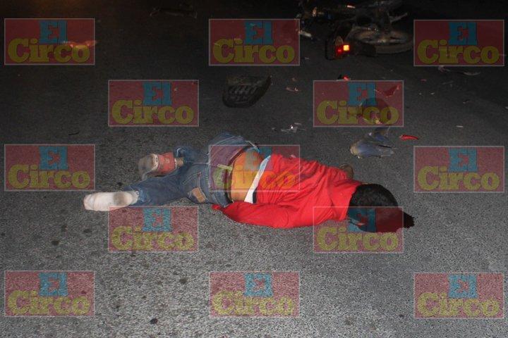 ¡Muere joven en choque de motocicletas en la carretera Lagos de Moreno- Aguascalientes!