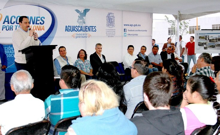 Inauguró el MunicipioAgs obras de infraestructura urbana en el Fracc. Casa Blanca