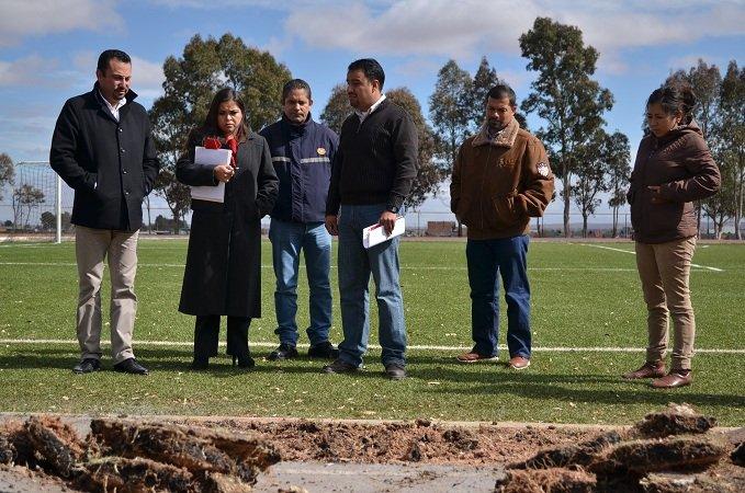 Invierte el ayuntamiento de Calera 4 mdp en obras de infraestructura deportiva