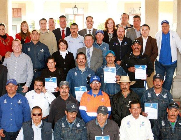 Reconoce MunicipioAgs a personal de la Secretaría de Servicios Públicos