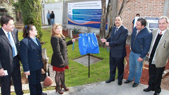 Entregó el MunicipioAgs infraestructura hidráulica en el CETIS 155