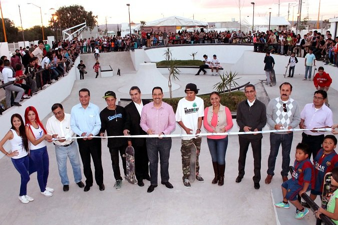 Entregó el MunicipioAgs infraestructura para practicar skateboarding en el Fracc. Pozo Bravo