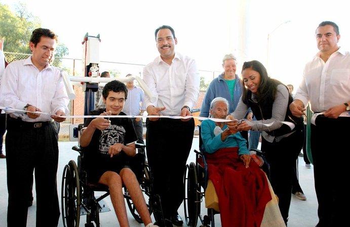 Entregó el MunicipioAgs gimnasio deportivo para adultos mayores y personas con discapacidad