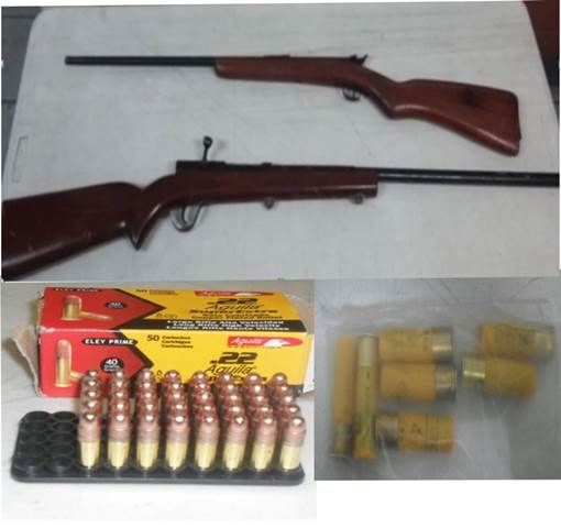 ¡Capturaron 4 sujetos con 2 armas de fuego largas y cartuchos en Aguascalientes!