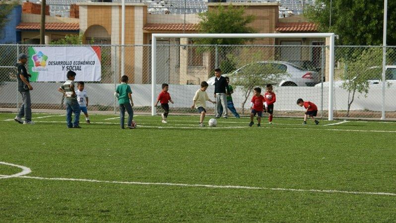 Inauguran Parque Multideportivo en el municipio de Calera