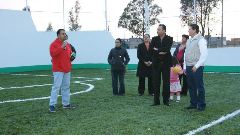 Inauguran obras en la Unidad Deportiva del municipio de Calera