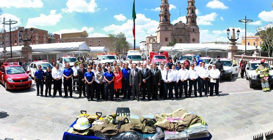 Entregó el MunicipioAgs nuevos vehículos y equipamiento a la Dirección de Protección Civil