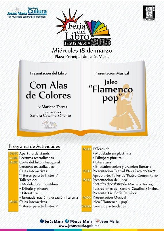 Programa de la 2a Feria del Libro de Jesús María (Mie. 18 de Marzo)