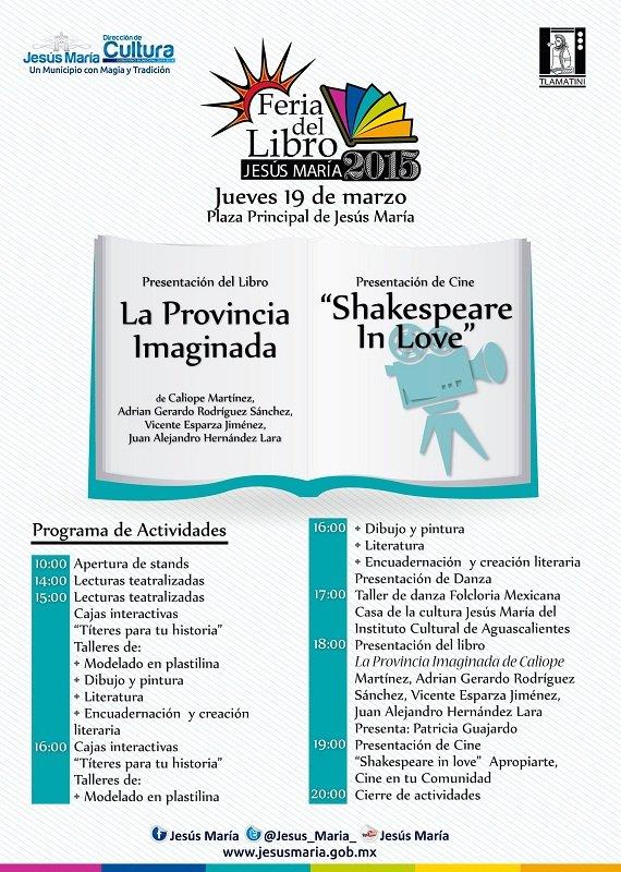 Programa de la 2a Feria del Libro de Jesús María (Jue. 19 de Marzo)