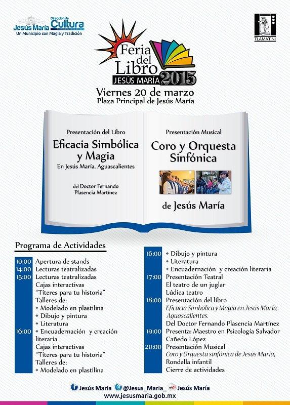 Programa de la 2a Feria del Libro de Jesús María (Vie. 19 de Marzo)