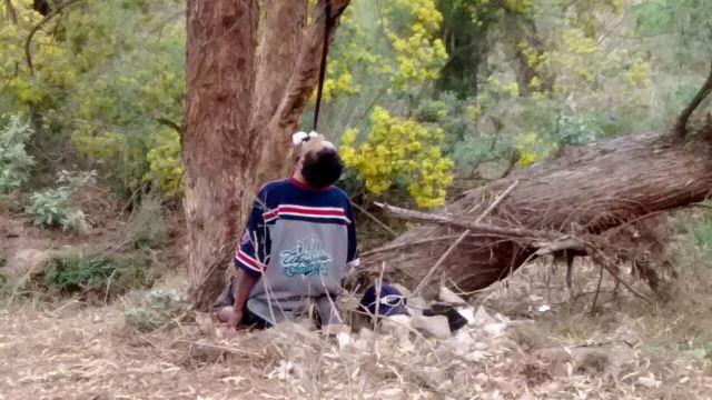"""¡Suicidio 17: el pepenador """"El Chivo"""" se ahorcó en un árbol en Aguascalientes!"""