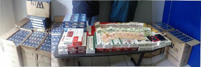 ¡Arrestaron a 2 sujetos con cigarros de contrabando en Aguascalientes!