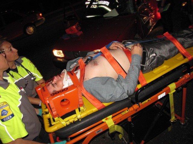 ¡Ebrio sujeto provocó fuerte choque-volcadura con 2 lesionados en Aguascalientes!