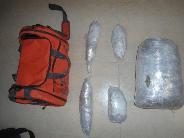 ¡Capturaron a 4 vecinos de Zacatecas con más de 3 kilos de marihuana en Aguascalientes!