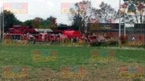 Explota pipa con gasolina al ser alcanzada por el tren en Aguascalientes_06
