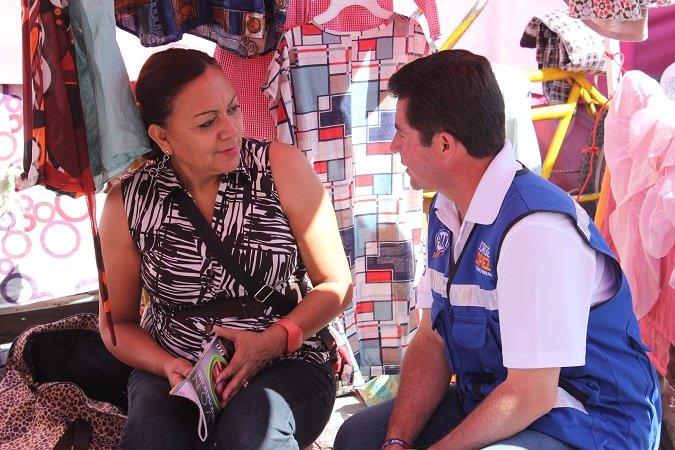 ¡Jorge López se compromete a apoyar a los comerciantes de Ags.!