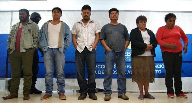 ¡Capturaron a 6 secuestradores en Puebla, entre ellos una mujer de Aguascalientes!