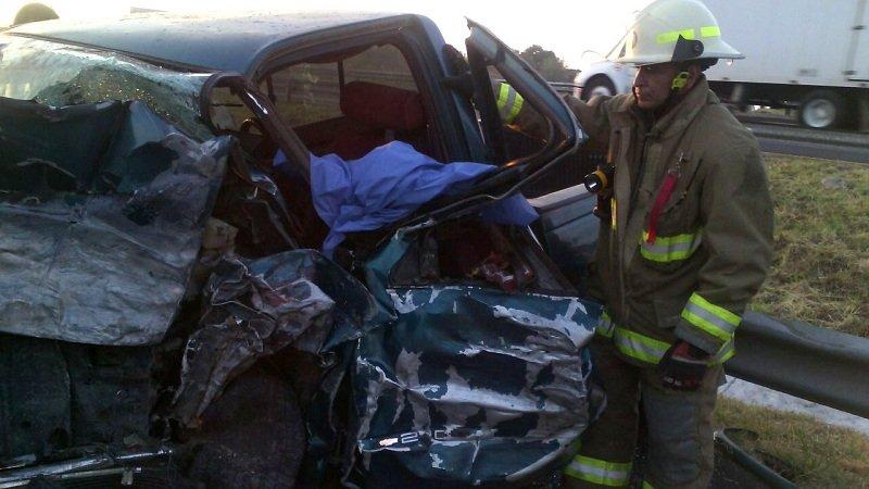 Dos lesionados de gravedad deja terrible accidente en carretera Guadalajara- Zapotlanejo