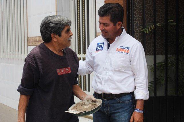 ¡Yo estaré presente en mi distrito de manera permanente: Jorge López Martín!