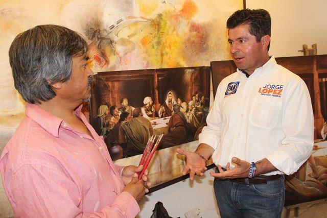 ¡Jorge López Martín ofrece apoyo absoluto al arte y la cultura en Aguascalientes!