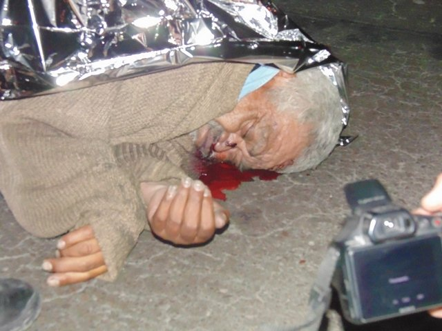 Automóvil arrolló y mató a un adulto mayor en la Zona Centro de Aguascalientes