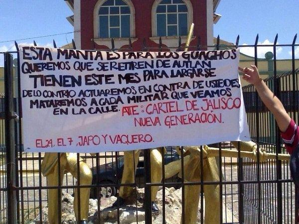 ¡El CJNG retó al Ejército Mexicano para que se retire de los municipios de Jalisco!