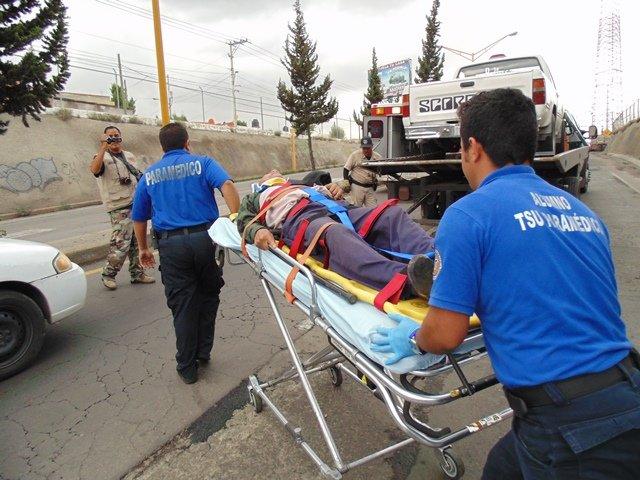 6 lesionados tras un doble accidente en Aguascalientes