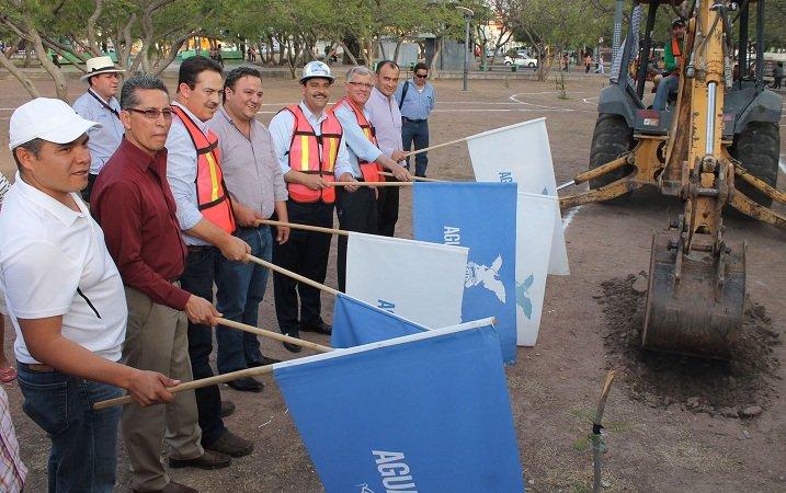 Comienzan obras de rehabilitación en parque El Dorado en Ags.