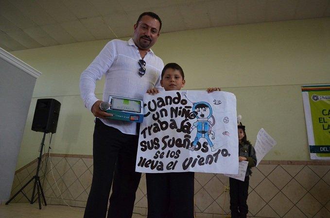 """Reconocen al municipio de Calera con distintivo """"México sin trabajo infantil"""""""