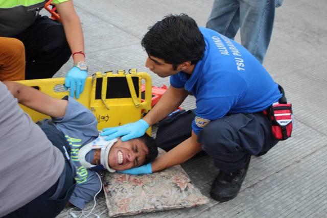 Policía municipal atropelló y lesionó a un joven en Aguascalientes