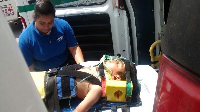 Agoniza niño que cayó de una bicicleta en Aguascalientes y se golpeó la cabeza