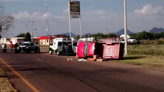 1 bebé muerta y 2 lesionadas tras un choque-volcadura en Aguascalientes