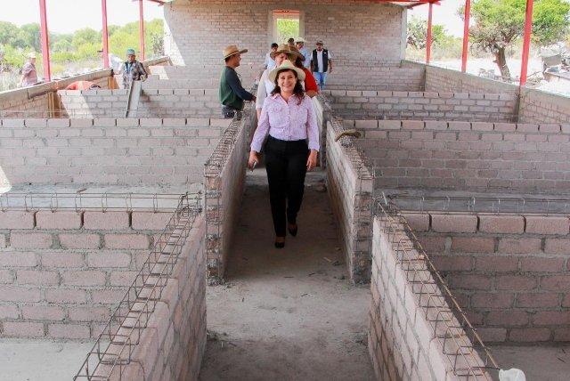 Margarita Gallegos realizó gira de supervisión del proyecto estratégico de porcinos en San Francisco de los Romo