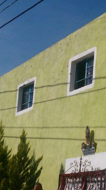 ¡Balearon con armas de fuego largas una casa en Calvillito, Aguascalientes!