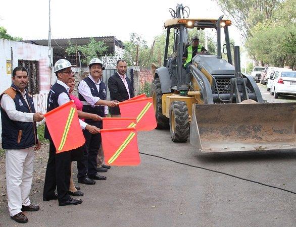 ¡Arrancan obras de repavimentación en la comunidad de El Relicario en Ags.!