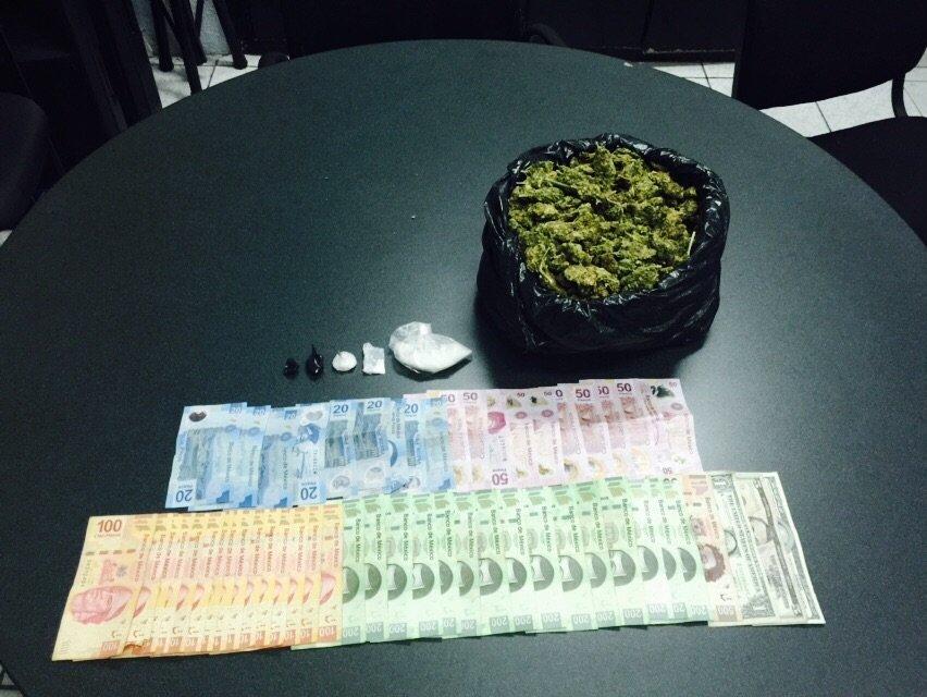 ¡Detuvieron a 2 sujetos con un kilo de marihuana en Aguascalientes!