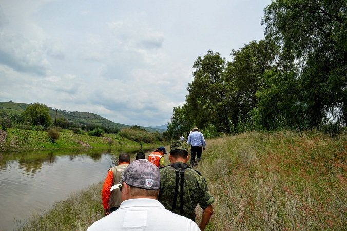 ¡Supervisan el cauce del Río Calvillo para prever desbordamientos!
