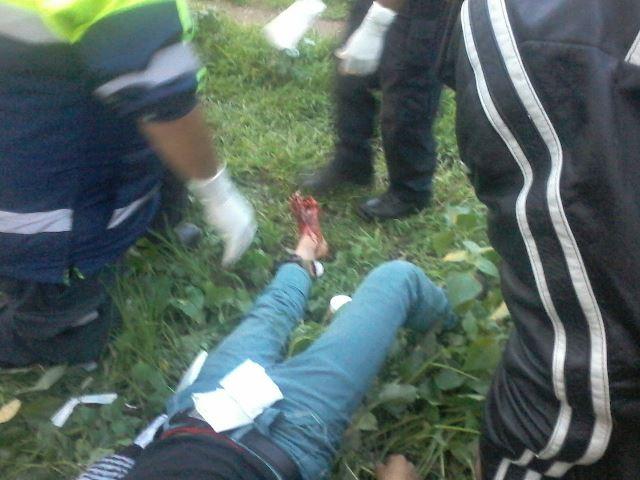 ¡Drogado sujeto fue atropellado por el tren en Aguascalientes y vive para contarlo!