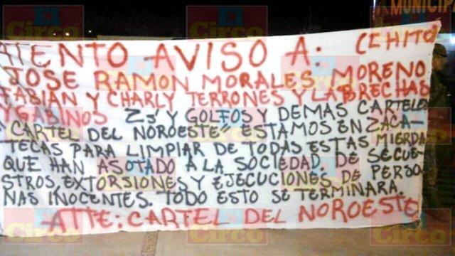 ¡Aparece el Cártel del Noreste en Zacatecas!