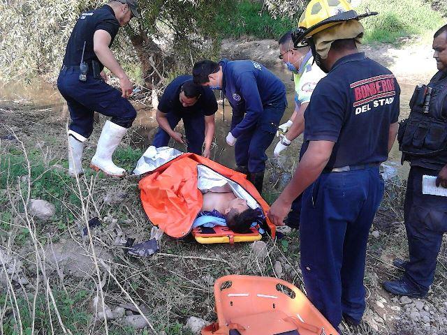 ¡Rescataron a un joven que quiso suicidarse y cayó al Río San Pedro en Aguascalientes!
