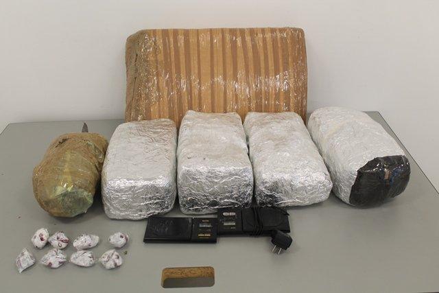 """¡Cayeron 3 narcotraficantes con 8 kilos de marihuana y """"crystal"""" en Aguascalientes!"""