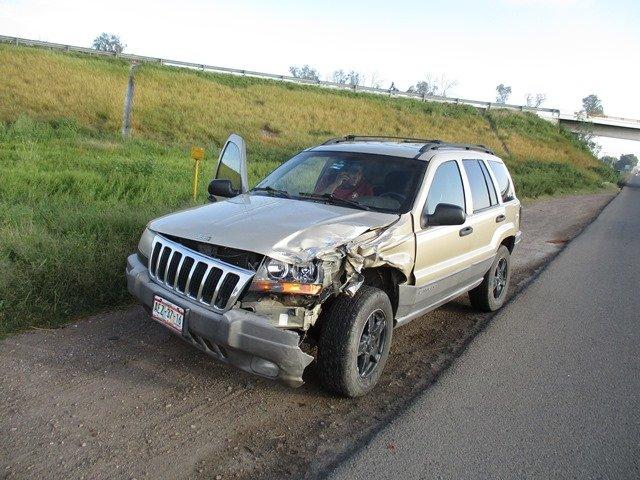 ¡Mujer resultó lesionada tras aparatoso choque en la 45 Norte en Aguascalientes!