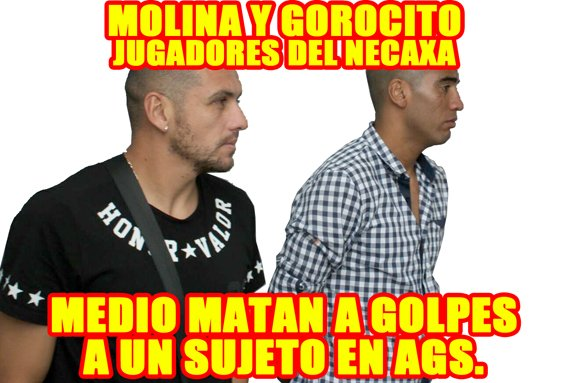 ¡Gorocito y Molina jugadores del Necaxa medio matan a golpes a un sujeto en Aguascalientes!